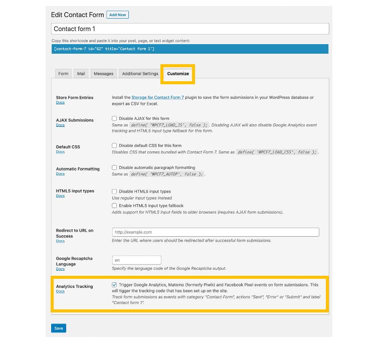 設定Contact Form 7事件追蹤及目標追蹤-1